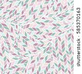 seamless pattern of knitting... | Shutterstock .eps vector #585370163