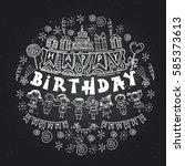 poster for the birthday...   Shutterstock .eps vector #585373613