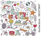 poster for the birthday... | Shutterstock .eps vector #585373847