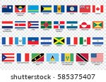 an illustrated country flags of ... | Shutterstock .eps vector #585375407