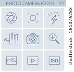 digital photo camera outline... | Shutterstock .eps vector #585376283