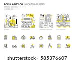 oil popularity modern layouts... | Shutterstock .eps vector #585376607