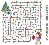vector illustration  maze  help ...   Shutterstock .eps vector #585382493