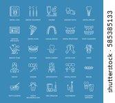 dentist  orthodontics line... | Shutterstock .eps vector #585385133