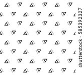 Geometric seamless pattern. Abstract vector background. Triangles black and white background. | Shutterstock vector #585392327