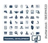 training development icons  | Shutterstock .eps vector #585394523
