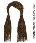 trendy african long hair... | Shutterstock .eps vector #585397853