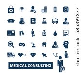 medical consulting icons | Shutterstock .eps vector #585399377