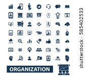 organization icons | Shutterstock .eps vector #585402533