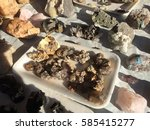 mineral specimen namibia  | Shutterstock . vector #585415277