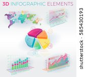 3d infographic elements | Shutterstock .eps vector #585430193