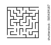vector labyrinth. maze or... | Shutterstock .eps vector #585439187