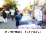 blurred image people walking... | Shutterstock . vector #585446927
