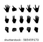 Hands. Set Of Vector Icons