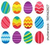 illustration of colorful easter ... | Shutterstock .eps vector #585462827