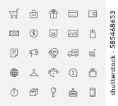 line icons about shopping... | Shutterstock .eps vector #585468653