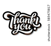thank you lettering. hand drawn ... | Shutterstock .eps vector #585475817