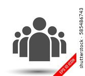a group of five people.... | Shutterstock .eps vector #585486743