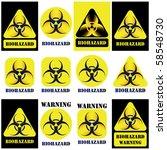 bio hazard vector sign  symbol... | Shutterstock .eps vector #58548730