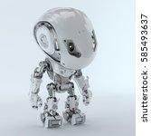 futuristic bbot robot looking... | Shutterstock . vector #585493637