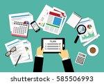 vector illustration of business ... | Shutterstock .eps vector #585506993