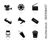 cinematography icons set | Shutterstock .eps vector #585508457