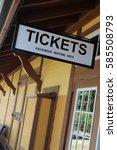 classic train ticket station... | Shutterstock . vector #585508793