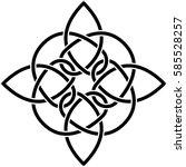 monochrome celtic pattern....