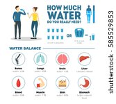 cartoon how much water do you... | Shutterstock .eps vector #585529853