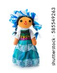 handmade mexican rag doll... | Shutterstock . vector #585549263