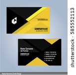 yellow and black modern... | Shutterstock .eps vector #585552113