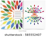 annual report cover design | Shutterstock .eps vector #585552407