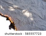 burning paper background white | Shutterstock . vector #585557723