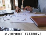 business team meeting... | Shutterstock . vector #585558527