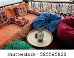 relaxing place  and seaview on... | Shutterstock . vector #585565823