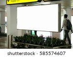 blank advertising billboard at... | Shutterstock . vector #585574607