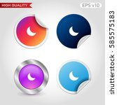 colored icon or button of moon... | Shutterstock .eps vector #585575183