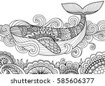 giant beautiful whale swimming... | Shutterstock .eps vector #585606377