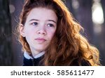 portrait of a young girl in the ... | Shutterstock . vector #585611477