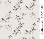 retro floral background with... | Shutterstock . vector #585613307