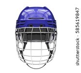 blank of classic ice hockey... | Shutterstock . vector #585619847