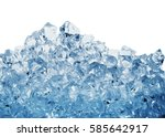 pile of the ice cubes toned in... | Shutterstock . vector #585642917