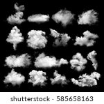 clouds on black background | Shutterstock . vector #585658163