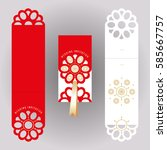 laser cutting template of... | Shutterstock .eps vector #585667757