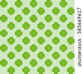 pattern clover for st patrick's ... | Shutterstock .eps vector #585669617