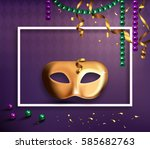 carnival mask concept with... | Shutterstock . vector #585682763