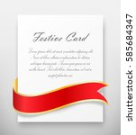 celebration paper greet card... | Shutterstock . vector #585684347