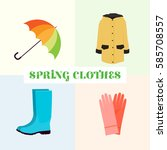 Spring Clothes. Umbrella  Boot...