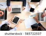 group of business people... | Shutterstock . vector #585722537