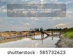 inspirational motivating quote... | Shutterstock . vector #585732623